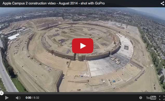 Un drone con GoPro filma la construcción del nuevo campus 2 de Apple