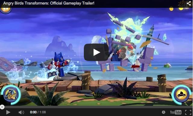 Trailer oficial del nuevo juego de Rovio: Angry Birds Transformers