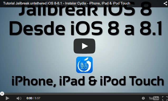 Jailbreak iOS 8-8.1 para iPhone, iPad & iPod Touch