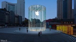 Nueva tienda Apple en Chongqing,  con un hermoso diseño de Cristal Cilíndrico