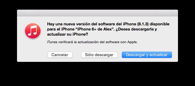 Apple lanza iOS 8.1.3 con correcciones de errores y mejoras de estabilidad