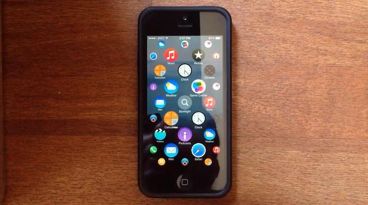 Concepto de apple watch en el iPhone