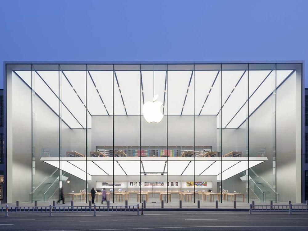 Nueva tienda de apple en Hangzhou con segunda planta flotante