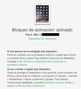 Herramienta para comprobar estado de bloqueo de activación iOS