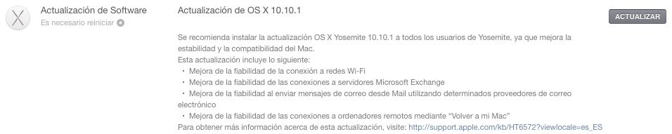 Apple lanza OS X Yosemite 10.10.1 con mejoras a Wi-Fi Fiabilidad y Más