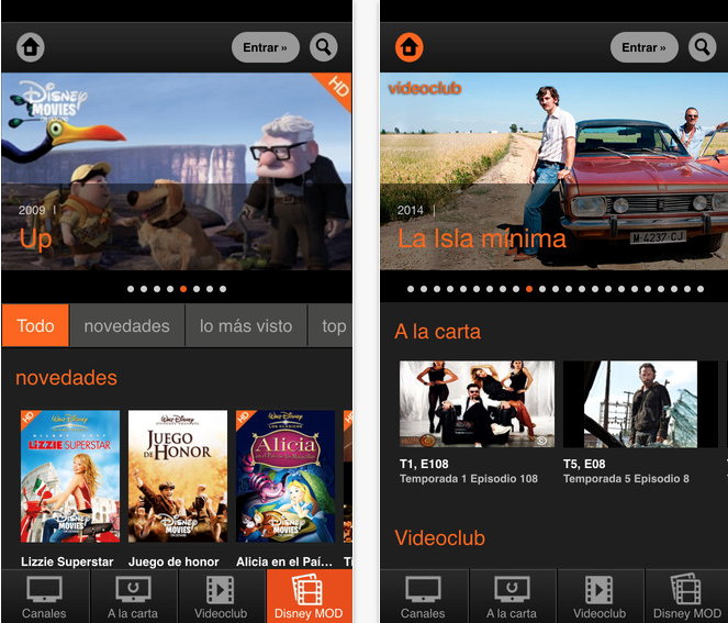 La app Orange TV compatible con iPhone 6 plus