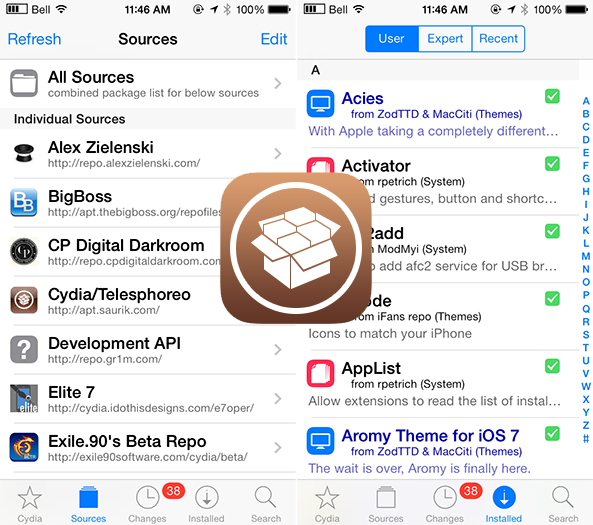 Cydia se actualiza con icono iOS 7 y una interfaz rediseñada