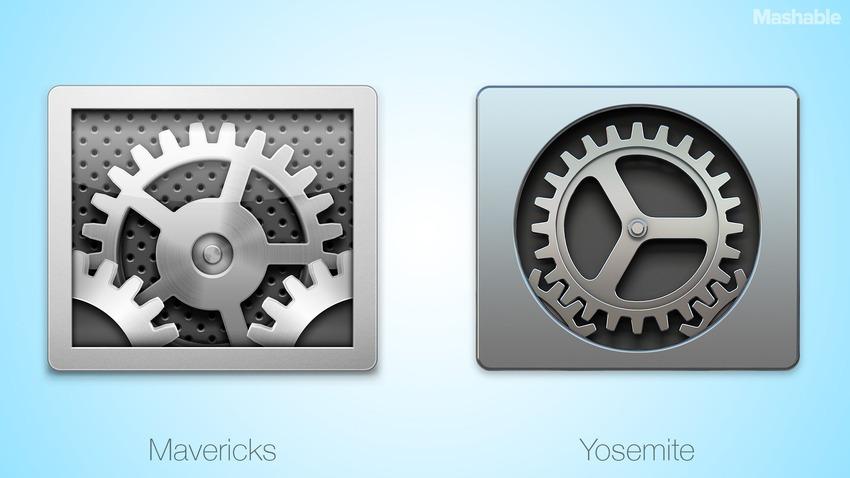 Un vistazo a la interfaz de usuario de OS X Yosemite vs OS X Mavericks