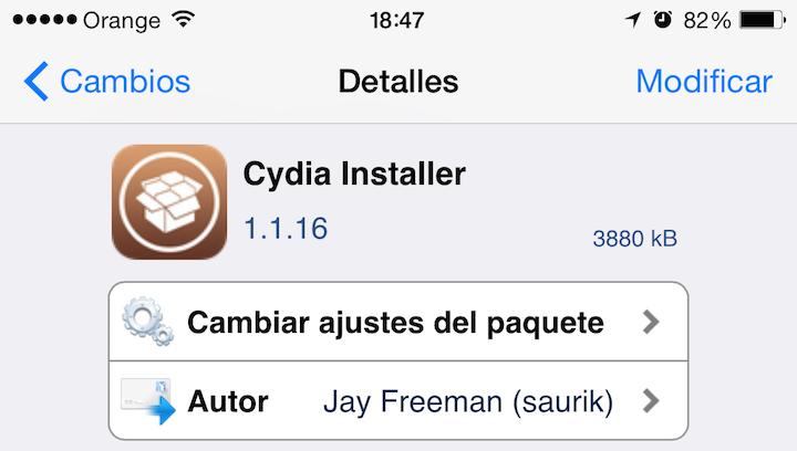 Saurik actualiza Cydia para corregir errores