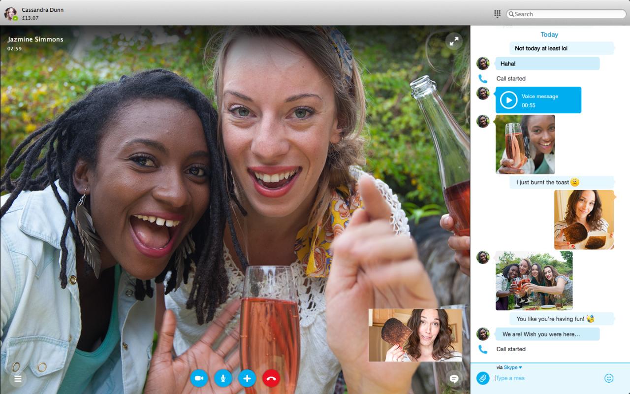 Skype 7 para Mac con un nuevo diseño