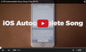 La nueva canción de Jonathan Mann's tiene la letra escritas por un iPhone