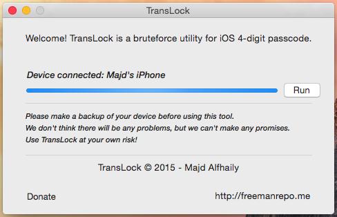 TransLock puede crackear el código de acceso de iPhones con jailbreak