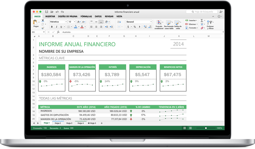 Versión preliminar de Office 2016 para Mac excel