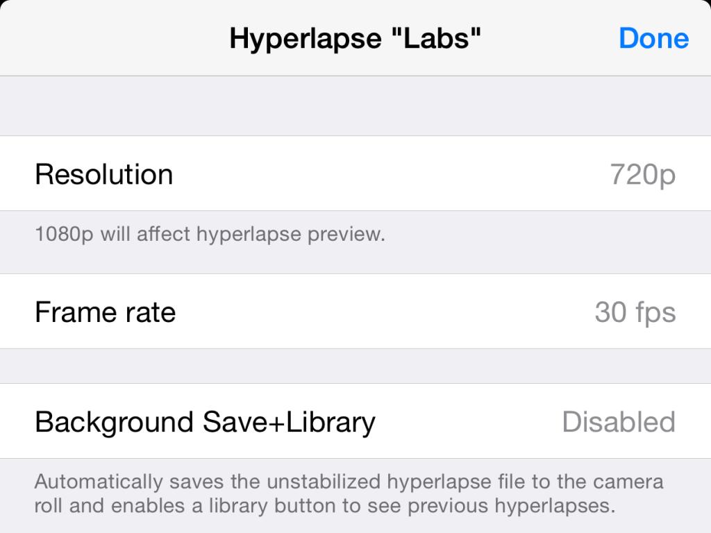 Cómo acceder a opciones ocultas en Hyperlapse de Instagram