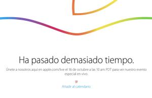Apple anuncia oficialmente evento en vivo el día 16