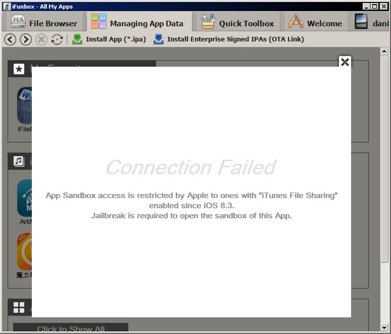 iOS 8.3 bloquea el acceso a iFunBox, iExplorer y similares