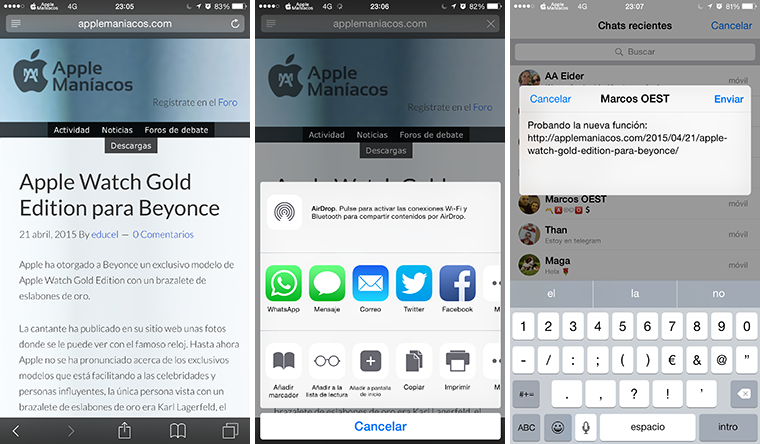 Actualización de WhatsApp Messenger con llamada para iPhone