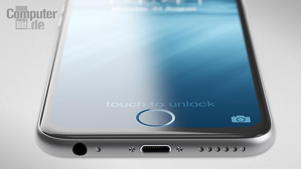 iPhone 7 Concept, con botón Home integrado en la pantalla