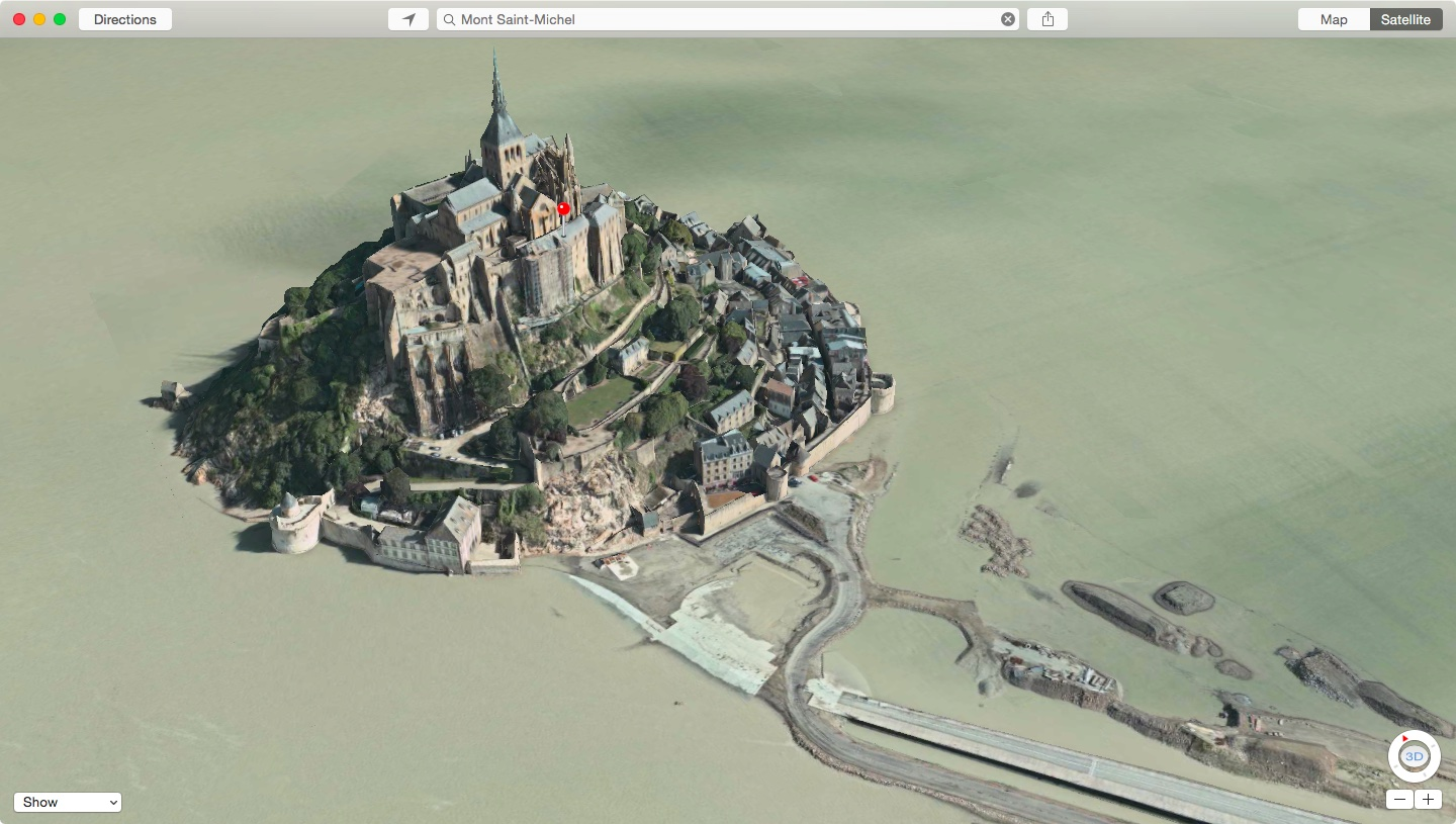 Apple-Maps-Flyover-Mont-Saint-Michel-in-France