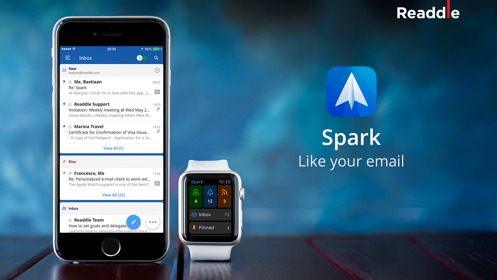 Spark, llega a la AppStore, con la intención de ser tu gestor de correo preferido