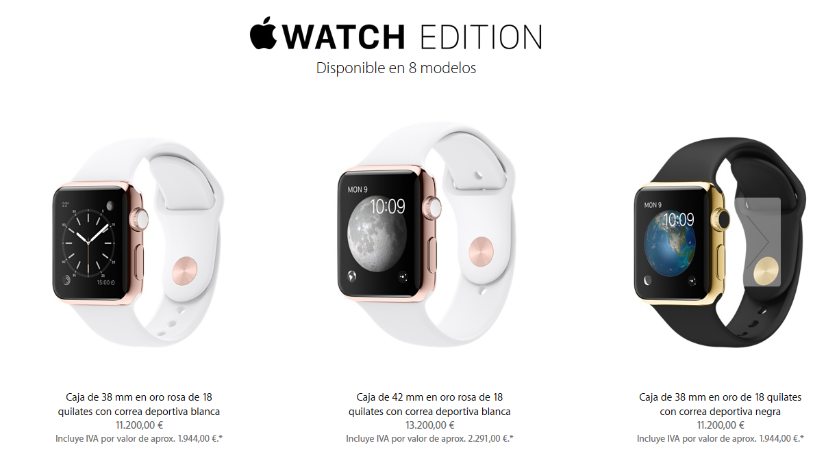Prohibida la venta del Apple Watch Edition