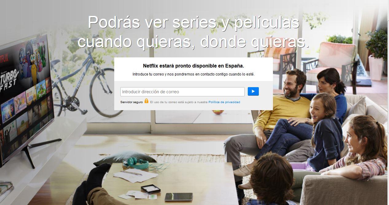 Netflix en España, a partir de octubre. Revolución en el VOD
