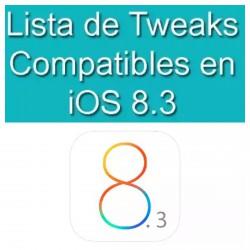 Tweaks compatibles con iOS 8.3 (02 de Julio del 2015)