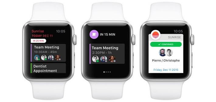Sunrise Calendar ya tiene versión para Apple Watch