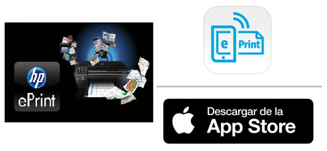 App Store: HP ePrint para impresiones directas desde tu dispositivo