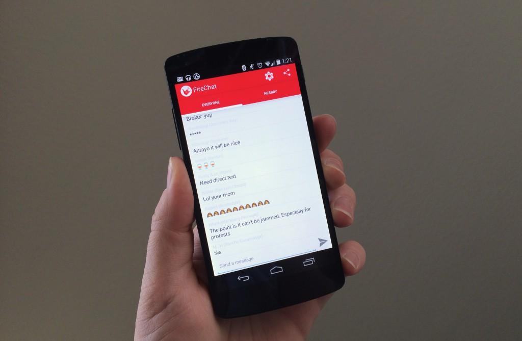 Firechat permitirá enviar mensajes privados offline