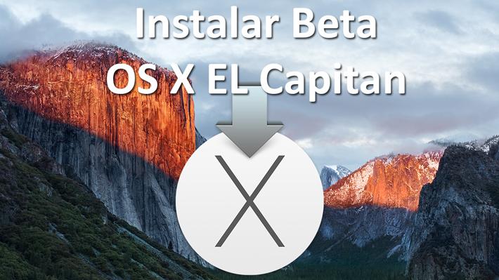 Cómo instalar OS X El Capitan beta en una nueva partición