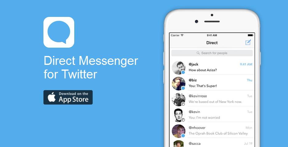 Direct Messenger Chatea cómodamente con los tuiteros