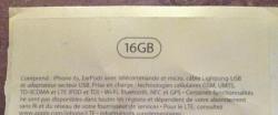 Una filtración de embalaje del iPhone 6s confirma un modelo de 16 GB