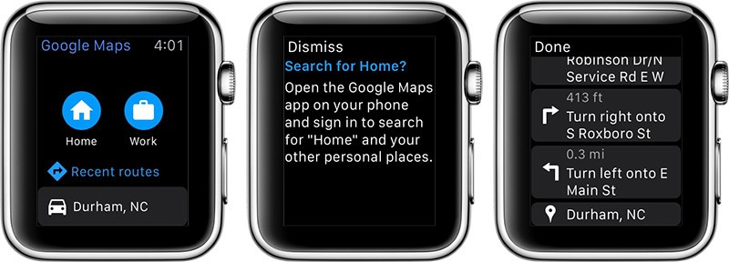 Google Maps para Apple Watch ya está disponible