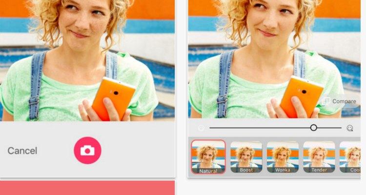 Microsoft Selfie una app de fotos para iOS