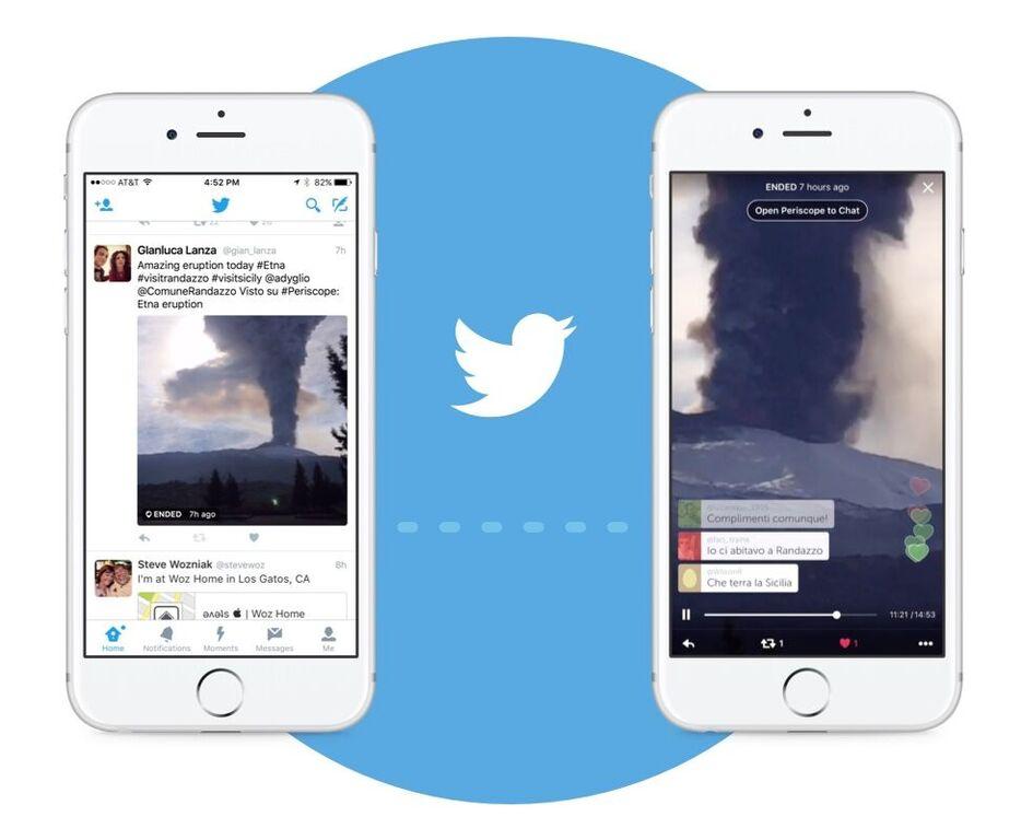 Twitter integra a Periscope en su app para iOS