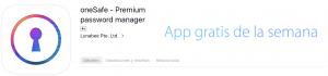 oneSafe app gratuita de la semana de Apple