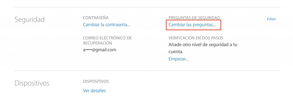 Cómo restablecer preguntas de seguridad de ID de Apple