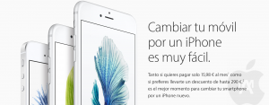 Trade up de Apple ya disponible en España