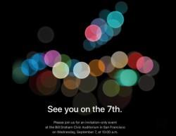 Keynote para el nuevo iPhone 7 para el 7 de septiembre