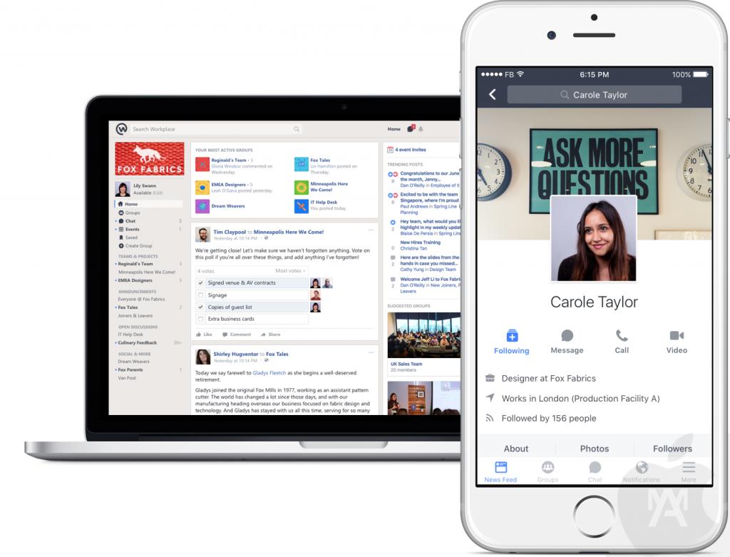 Llega Workplace el Facebook que usarás en la empresa