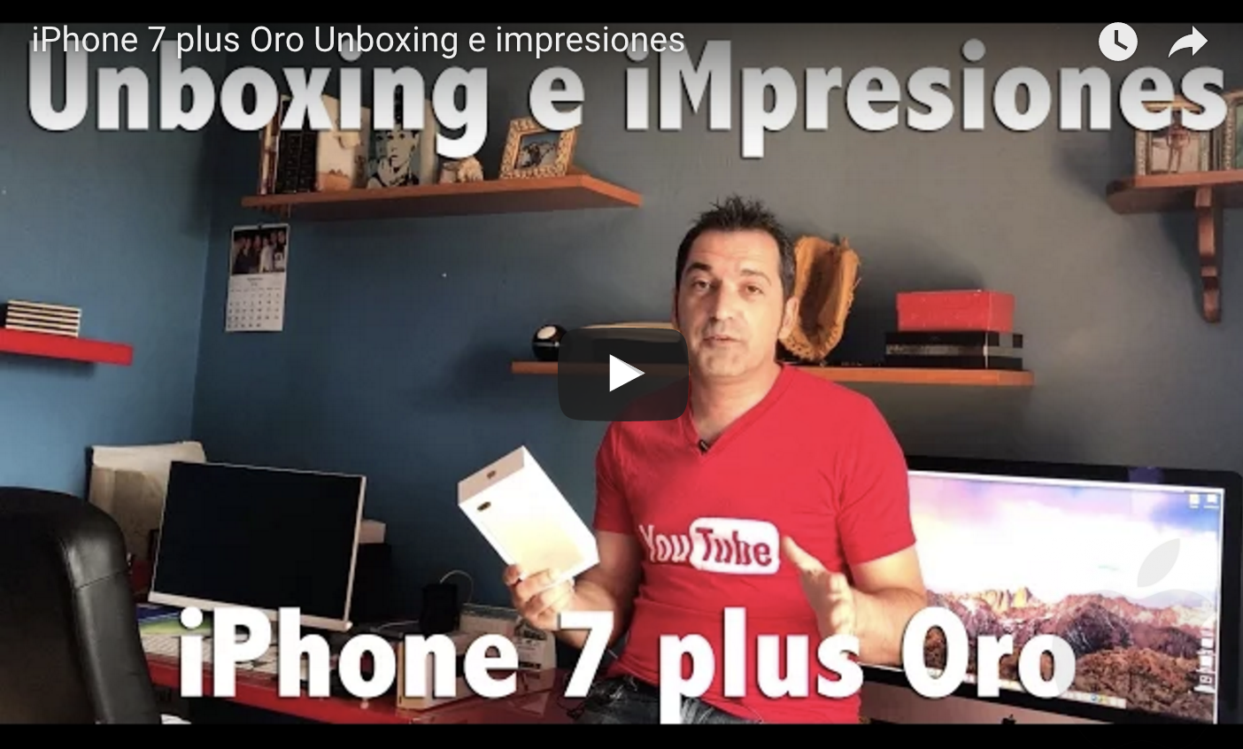 AppleManiacos TV: iPhone 7 plus Oro Unboxing e impresiones