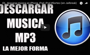 iDL, descarga música en iPhone, iPad, iPod (sin Jailbreak)