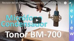 Revisión del micrófono condensador para YouTubers Tonor