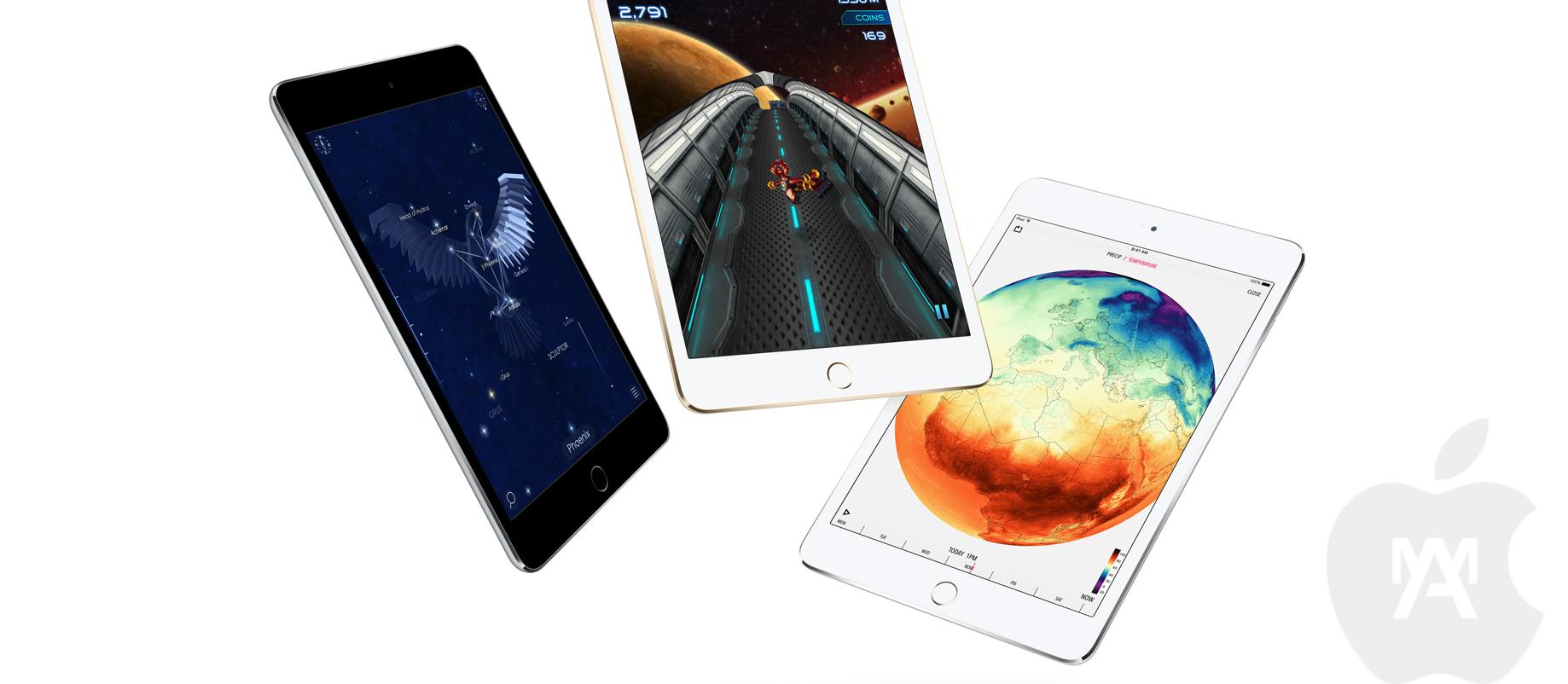 nuevos tamaños de los iPads