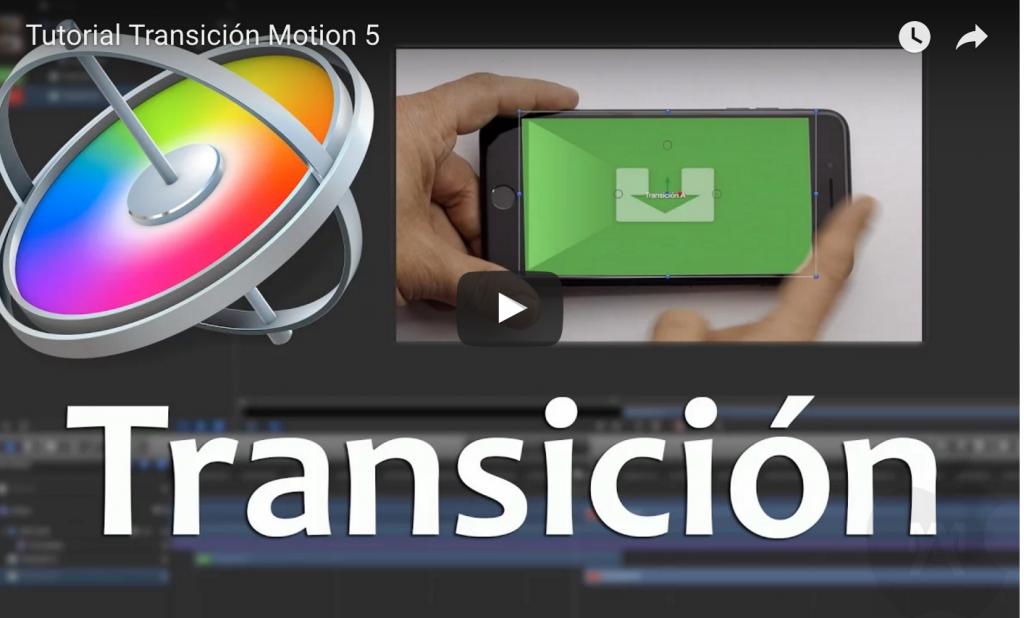 Tutorial Transición Motion 5