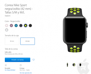 Correas Apple Watch Nike+ a la venta