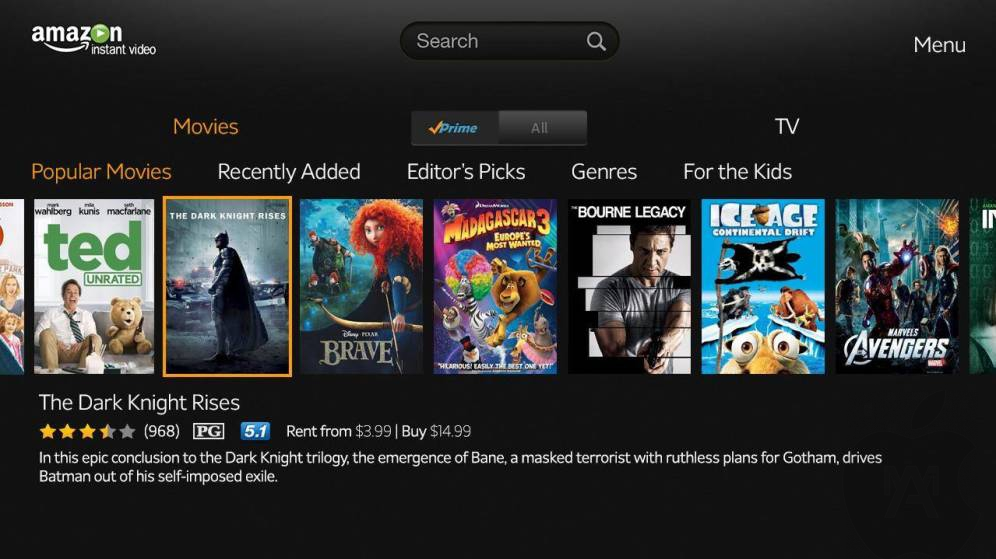 Amazon Prime Video llegará al Apple Tv