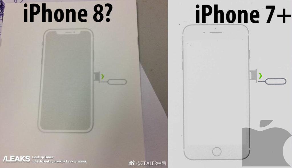 Guía de usuario del iPhone 8 corrobora diseño sin bordes, alargado y más