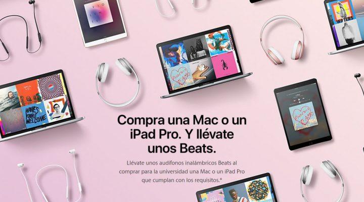 Beats de Regalo al comprar como estudiante en Apple México